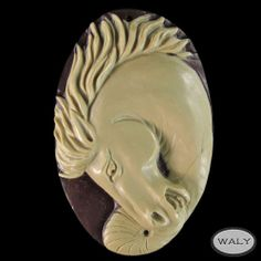 Carved Large Horse Exotica Jasper Bead