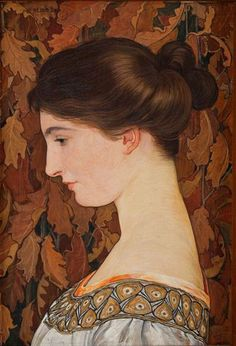 Portrait of Violette Scholder - Ernest Bieler