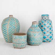 Cement and Ceramic Vases