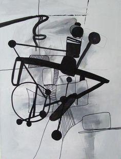 "Polish Artist: Mikolaj Obrycki; Acrylic 2008 Painting ""Nok"""