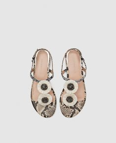 Image 3 of LEOPARD PRINT LEATHER SANDALS from Zara