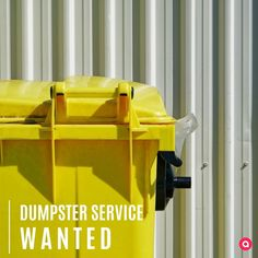 Dumpster Service, Looking For Someone, Tidy Up, Join, Platform, Community, Business, Free, Heel