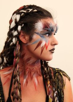 Finalist make-up in the beauty/fantasy student competition at IMATS Los Angeles 2011. Photo by Deverill Weekes