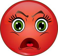 Foto circa Emoticon sorridente rosso arrabbiato Azione di vettore. Illustrazione di immagine, aggressivo, carattere - 70722383