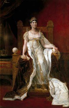 Guillaume-Guillon Lethiere (1760-1832)   Josephine de Beauharnais Empress of France 1807   Olio su tela 225 x 149 cm  Château de Versailles