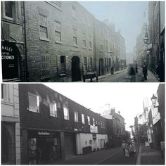 Silver Street 1887 and how it looks today Leicester, Back In The Day, Great Britain, Old Town, Old Houses, Opera House, Past, Photographs, Old Things