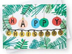 The Baubles Xmas Card is a fun, colourful card perfect for wishing your loved ones a Happy Christmas. Christmas Typography, Christmas Poster, Christmas Mood, Christmas Design, Christmas Greetings, Christmas Themes, Christmas Crafts, Christmas 2016, Christmas Icons