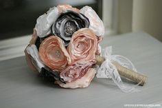 DIY Fabric Wedding Bouquet & $50 Visa Gift Card Giveaway