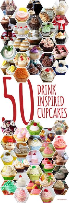 50 drink inspired cupcakes!