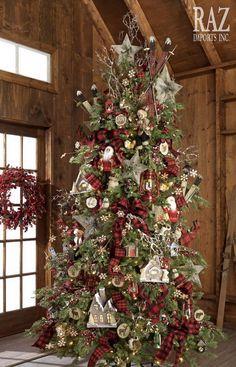 Christmas Cabin Tree