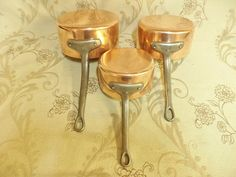 Copper Home Accessories, Saucepans, Copper Pans, Pan Set, Tin, Pots, Candle Holders, France, Store