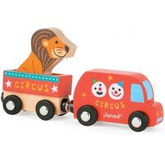 circusbusje en trailer janod | ilovespeelgoed.nl