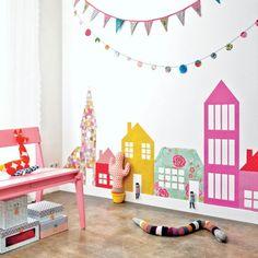 babyzimmer komplett gestalten girlanden ketten wand