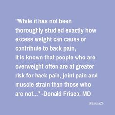 Muscle Strain, Back Pain, Fat