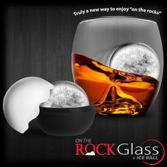 On The Rock Glass + Ice Ball by Final Touch