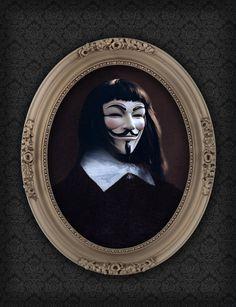 "Hugo Weaving: ""V"" ""V for Vendetta"" - James McTeigue  ""LIKE A SIR: Superheroes Go Super Classic"", by Berk Senturk"
