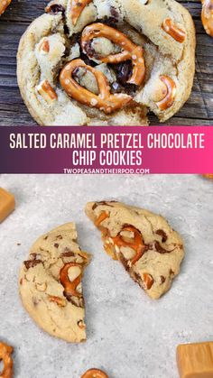 You will love the sweet and salty combo of this cookie recipe! These sweet treats are delectable on its own but the salted caramel and pretzels make them more fun - adding that salty kick! Keep this recipe to try this fall. Caramel Chocolate Chip Cookies, Salted Caramel Chocolate, Chocolate Tarts, Salted Caramels, Chocolate Chips, Chocolate Cake, Best Cookie Recipes, Baking Recipes, Dessert Recipes