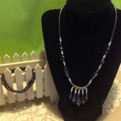 HEMATITE NECKLACE free bracelet Really cute I have 3 different colors pearls  pink ,blue ,white Jewelry Necklaces