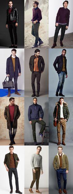 Men's Autumnal Colours - Transitional Season Outfit Inspiration Lookbook
