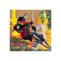 16 x serviettes de table Lego ninjago petites - Castello | Jeux et Jouets
