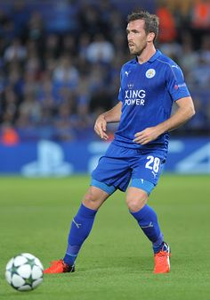 Christian Fuchs, Leicester City v FC Porto, Copyright B&O Press Photo. Christian Fuchs, Leicester City Fc, Fc Porto, Impossible Dream, King Power, Uefa Champions League, Press Photo, The Incredibles, Running