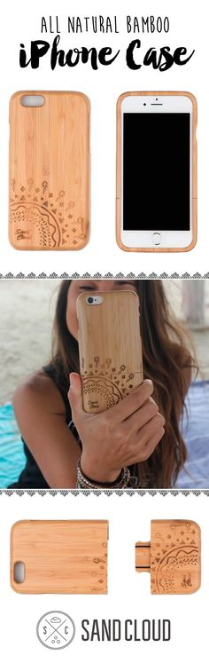 Wood iPhone case.  We donate 10% to help preserve marine life!