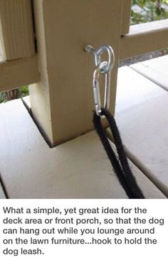 This is such a good idea for dogs who like to be with people but have a wandering problem.