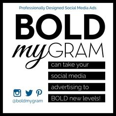 The BOLDER the BETTER! Take your advertising the new heights with eye catching social media ads! Social Media Ad, Advertising, Ads