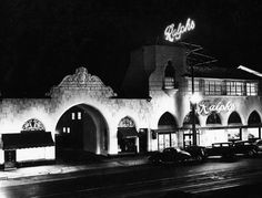 (1929)* - Night view of the exterior of Ralphs Grocery Store in Pasadena, built in the 1920s.