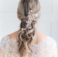€69 Amazing Floral Bruidskapsel Haaraccessoire Haarsieraad Bruid Bruiloft Wedding Haarspeld Haarcorsage Parel Crystal Vintage