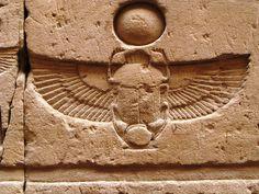 Edfu winged scarab want this on lower back. Egyptian Mythology, Egyptian Symbols, Ancient Egyptian Art, Egyptian Goddess, Ancient History, Scarab Tattoo, Beetle Tattoo, Shield Drawing, Parrot Image