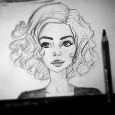 Discover The Secrets Of Drawing Realistic Pencil Portraits.Let Me Show You How You Too Can Draw Realistic Pencil Portraits With My Truly Step-by-Step Guide. Portrait Sketches, Pencil Portrait, Art Sketches, Disney Drawings, Cute Drawings, Pencil Drawings, Drawing Cartoon Faces, Woman Drawing, Drawing People
