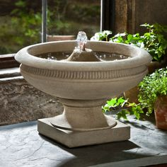 Campania Cast Stone Veranda Garden Terrace Outdoor Fountain Verde (Main Image) - FT-173-VE