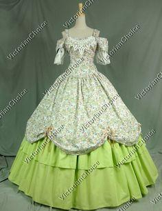 Victorian Civil War Dress Ball Gown Prom Reenactment Clothing Steampunk