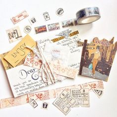 That's how I have used my handmade goodies today ❤️ have a wonderful weekend and some crafty time to - makememoriestoday Pen Pal Letters, Pocket Letters, Snail Mail Pen Pals, Decorated Envelopes, Envelope Art, Handwritten Letters, Happy Mail, Letter Writing, Mail Art