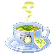 pretty-transparents: i wish the cup was a thing Pixel Art Food, Food Art, Faire Du Pixel Art, Pix Art, Kawaii Doodles, Food Drawing, Kawaii Drawings, Food Illustrations, Cute Art