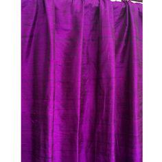 Purple 100 Percent Pure Silk Dupioni Grommet Lined by FabricMart