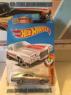 Hot Wheels 2016 HW Muscle Mania '72 FORD GRAN TORINO SPORT Walmart Zamac #HotWheels #Ford