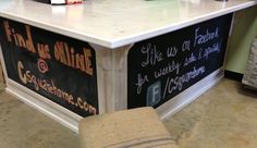 Retail Store Sales Counter Cash Wrap Love the chalkboard area below to communicate a marketing message!