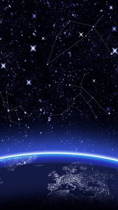 Constellations In Space Wallpaper Iphone X 7 Wallpapers For Your