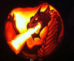 Dragon Carved Pumpkin by wilderflower on deviantART