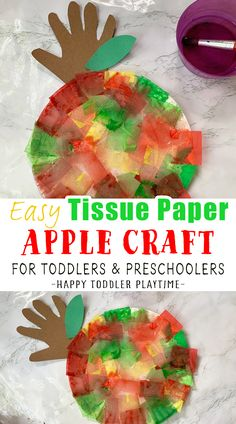 Fall Crafts For Toddlers, Diy Crafts For Kids Easy, Toddler Crafts, Preschool Crafts, Kids Crafts, Apple Activities, Fun Activities For Kids, Autumn Activities, Activity Ideas