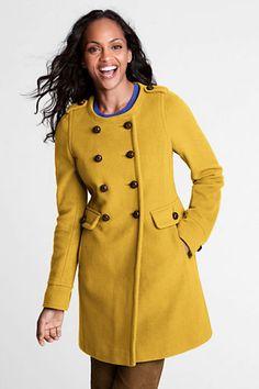 Women's Luxe Wool Scoopneck Coat from Lands' End