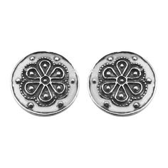 Home :: Jewellery :: By Category :: Earrings :: Rodax (Rosette), Silver Earrings Mycenaean, Decorative Beads, Ancient Civilizations, Rosettes, Special Gifts, Silver Earrings, Cord, Period, Queens