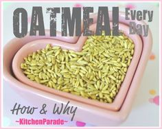 Oatmeal Everyday ♥ KitchenParade.com, how and why to make oatmeal your morning ritual. NIne reasons why, four ways to cook.