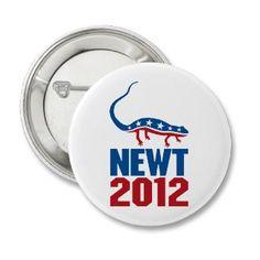 Newt Gingrich 2012 Pins