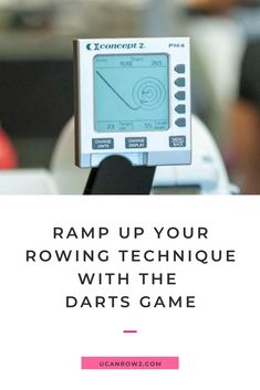 Did you know there's a game in your Concept2 rowing machine monitor that can make you a better rower? In this post from our blog we're showing you all about the darts game, which is both fun AND good for your rowing technique!