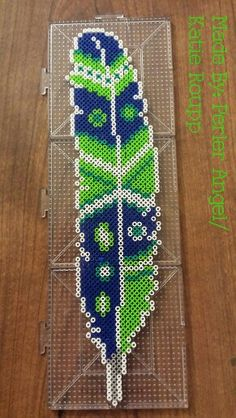 Perler Mini Bead Feather