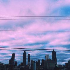 Purple sky over the big city. #ExploreGeorgia [Photo by @samrturnage]