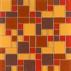 Giorbello Constellation Random Sized Glass Mosaic Tile in Autumn Wind